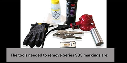 Tools for reflective tape removal