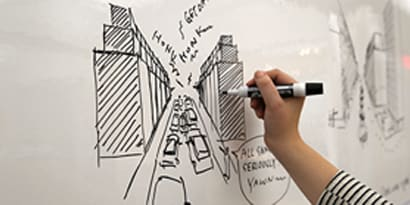3M whiteboard film on surface finishes