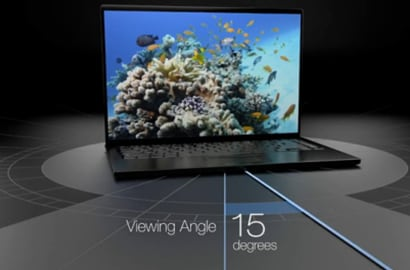 An image of a desktop screen, showing the viewing angle of 15 degrees.