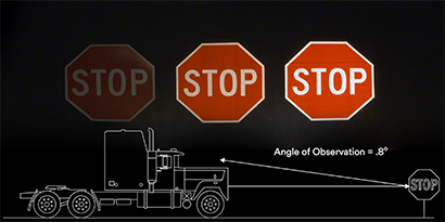 Stop sign visibility demonstration