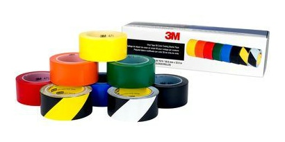 Set of marking tapes in different colors to help with 5S implementation