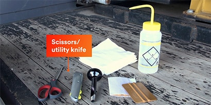 Tools for applying reflective tape