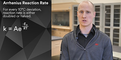 Video of Application Engineer explaining temperature impact the cure profile of adhesives