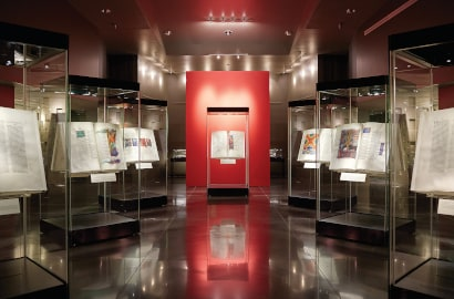 The St. John's Bible Gallery, equipped with a fire suppression system using 3M Novec 1230 fluid. Photo credit: Hill Museum & Manuscript Library/Wayne Torborg, Saint John's University, Collegeville, Minnesota, USA