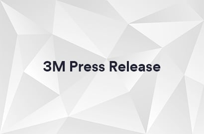 Light and dark grey trifecta image with 3M Press Release text T